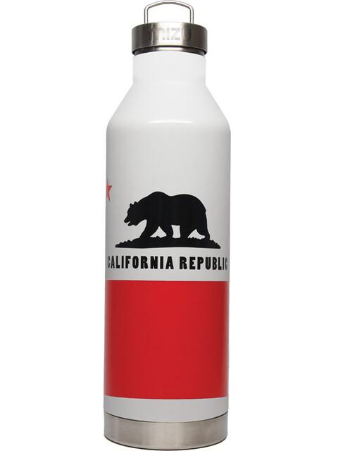 MIZU V8 Insulated Bottle with Stainless Steel Cap 800ml California Flag Glossy White